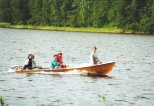 Einkaufstour mit Boot