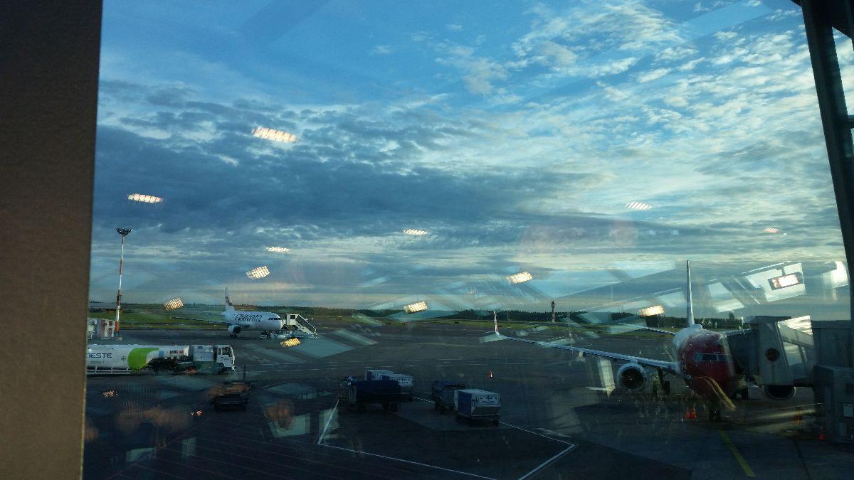 Am Terminal, warten auf das Boarding