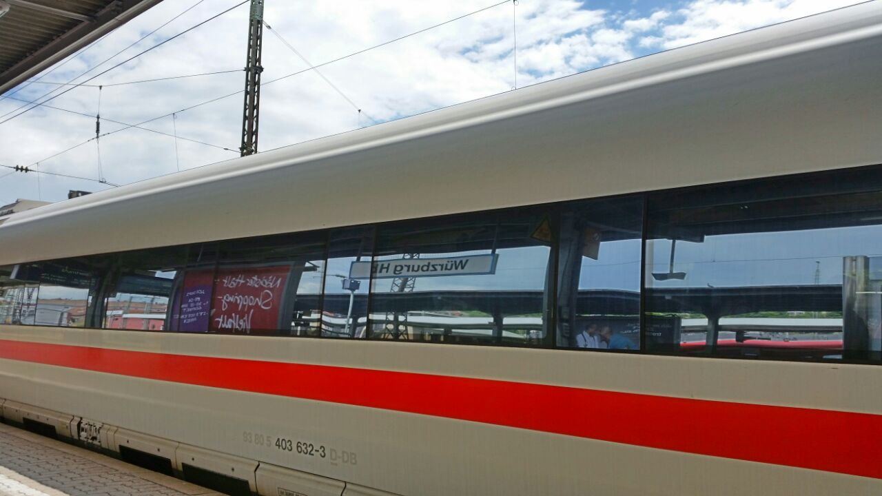 Zug nach Frankfurt