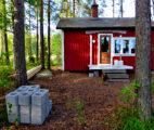 Hütte alter Eingang