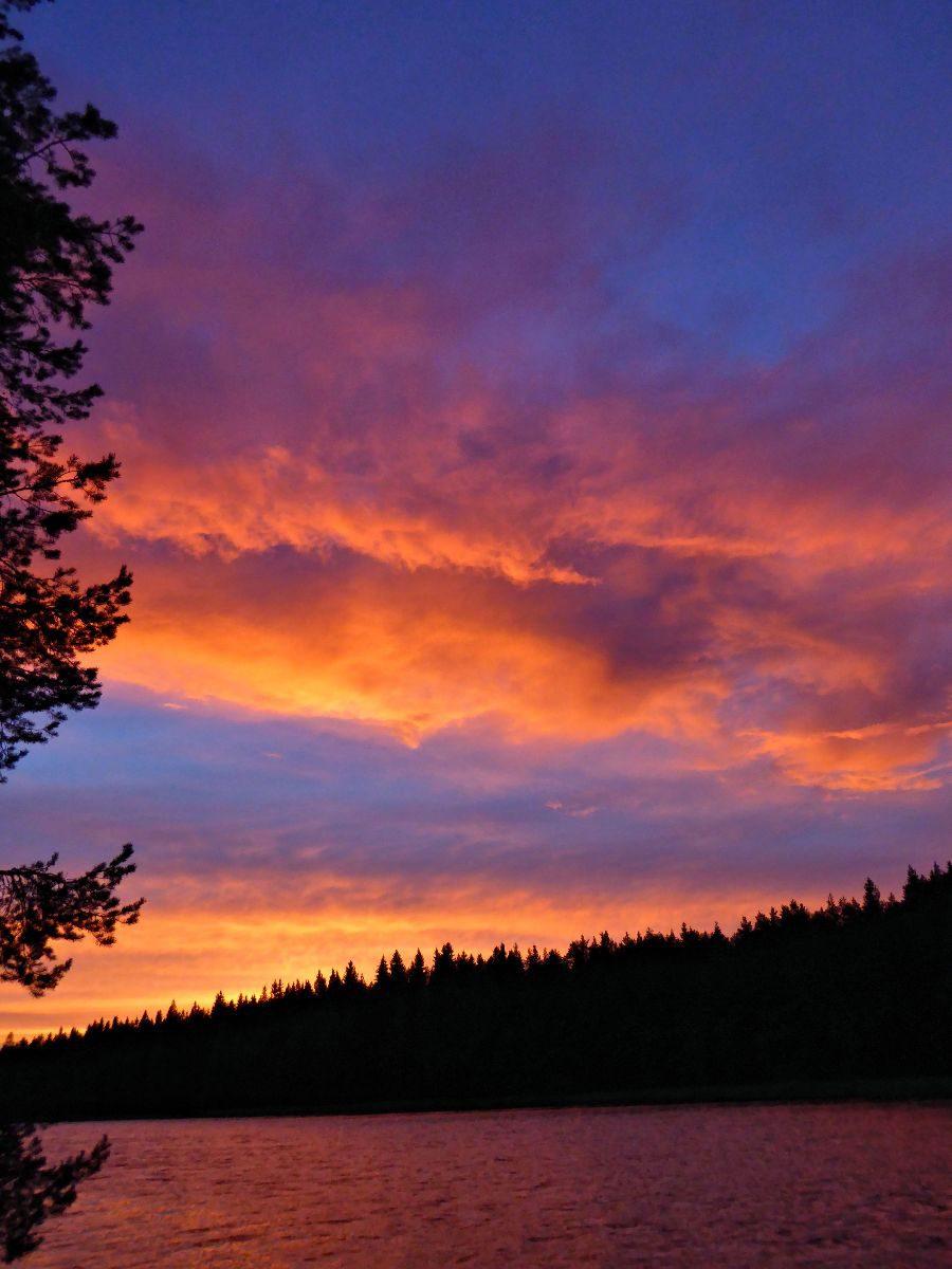Ein Sonnenuntergang, wie man ihn auch hier nicht jedes Jahr sieht