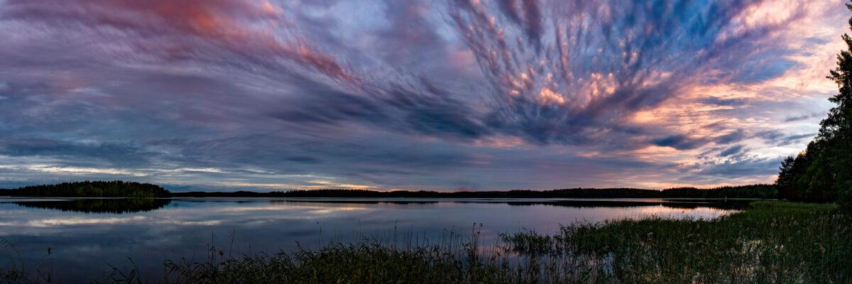 cloudy sunset muuttosaaret finland huebner photography